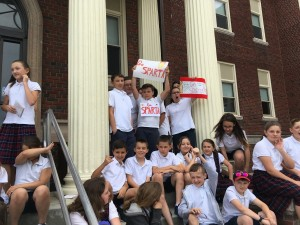 Grade 6 students participate in ancient Olympic Games